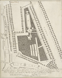 Plan of Duck Island in St James's Park of which M. St. Evremond was appointed Governor by Charles II